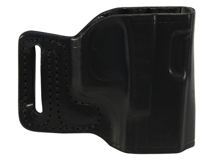 DeSantis L-GAT Outside the Waistband Slide Holster Right Hand Glock 17, 19, 22, 23, 26, 27, 33, 34, 35 Leather Black