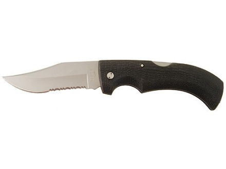 "Gerber Gator Folding Hunting Knife 3.75"" Stainless Steel Clip Point Blade Rubber Handle Black"