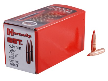 Hornady InterLock Bullets 264 Caliber, 6.5mm (264 Diameter) 123 Grain SST Boat Tail Box of 100