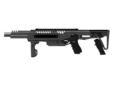 "Command Arms RONI Pistol to Carbine Conversion Kit 16"" Threaded Barrel, Integral Collapsible Stock, Tri-Rail Handguard Fits Glock 17 9mm Luger Black"