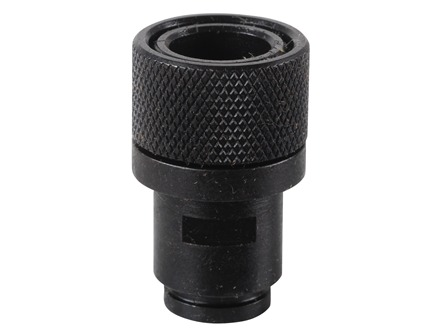 "Advanced Armament Co (AAC) 1/2""-28 Thread Adapter with Thread Protector for Walther P22, S&W M&P 22 Steel Black"