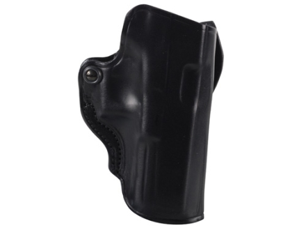 DeSantis Mini Scabbard Outside the Waistband Holster Right Hand Glock 17, 22, 31 Leather Black