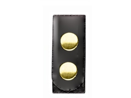 Bianchi 7906 Elite Belt Keeper Brass Snap High-Gloss Synthetic Leather Black Package of 4