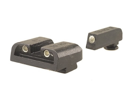 TRUGLO Brite-Site Tritium Sight Set Glock 20, 21, 29, 30, 31, 32, 37 Steel Tritium Green