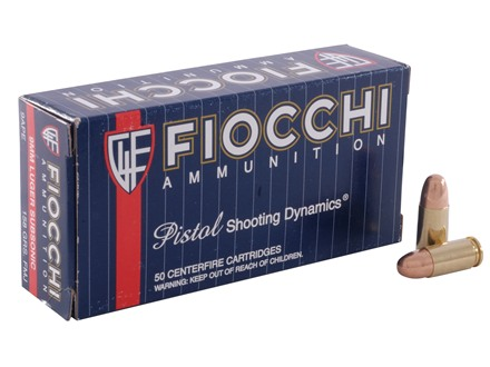 Fiocchi Shooting Dynamics Ammunition 9mm Luger 158 Grain Full Metal Jacket Subsonic Box of 50