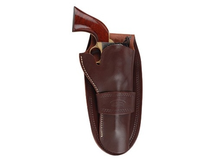 "Hunter 1082 Single Loop Holster Right Hand Colt Single Action Army, Ruger Blackhawk, Vaquero 7.5"" Barrel Leather Antique Brown"