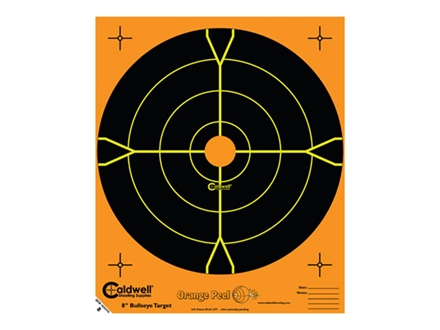 "Caldwell Orange Peel Targets 8"" Self-Adhesive Bullseye"