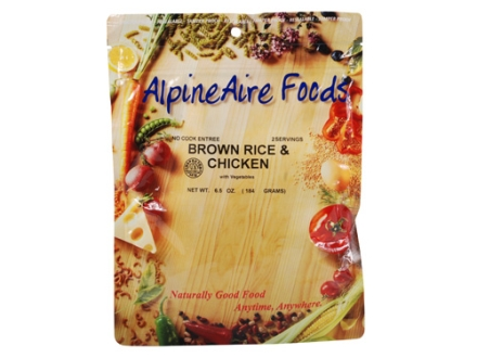 AlpineAire Brown Rice and Chicken with Vegetables Freeze Dried Meal 6.5 oz