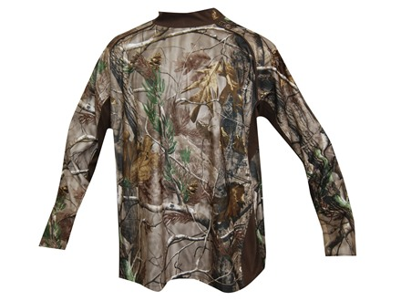 Rocky Men's Scent IQ Mock Shirt Long Sleeve Polyester Realtree AP Camo Large 42-44