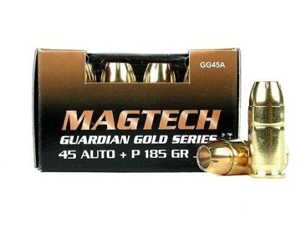 Magtech Guardian Gold Ammunition 45 ACP +P 185 Grain Jacketed Hollow Point
