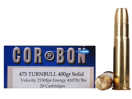 Cor-Bon Hunter Ammunition 475 Turnbull 400 Grain Solid Box of 20