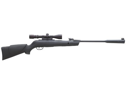 Gamo Whisper Air Rifle 22 Caliber Black Synthetic Stock Blue Barrel with Gamo Airgun Scope 3-9x 40mm Matte