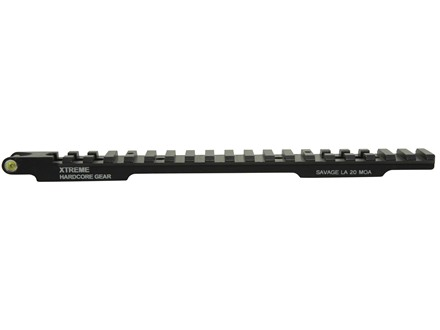 Xtreme Hardcore Gear Tru Level 1-Piece Picatinny-Style Scope Base Savage 110 Through 116 Round Rear Long Action with Integral Bubble Level Matte