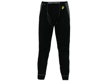"ScentBlocker Men's S3 Midweight Base Layer Pants Wool Black and Gray 2XL 44-46 Waist 33-1/2"" Inseam"