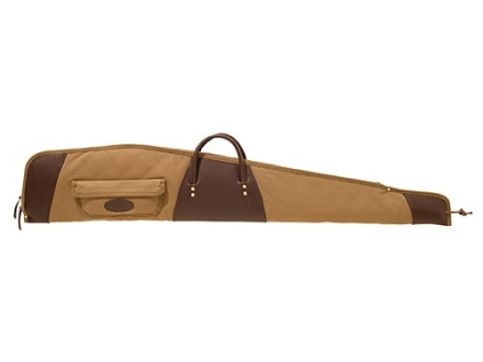 "Boyt Boundary Lakes Scoped Rifle Gun Case 48""with Pocket Canvas and Leather Khaki"