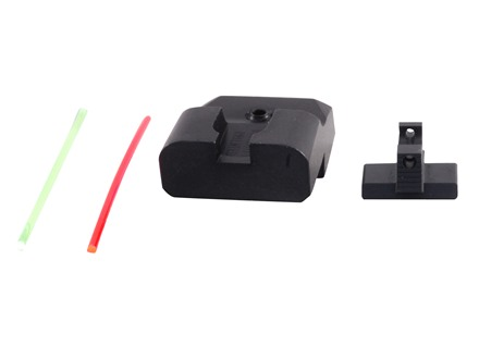 Warren Tactical Sight Set 1911 Novak Cut Sevigny Competition Rear, Fiber Optic Front Steel Matte