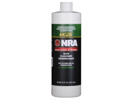 NRA Licensed Gun Care System By Mil-Comm MC25 Gun Cleaner Degreaser Bore Cleaning Solvent 15 oz Bottle