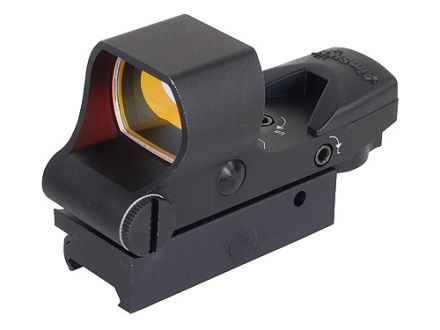 AimShot Reflex Red Dot Sight 4-Pattern Reticle (8 MOA Dot, 20 MOA Circle with 3 MOA Dot, Crosshair, Crosshair with 20 MOA Circle) with Integral Weaver-Style Mount Matte