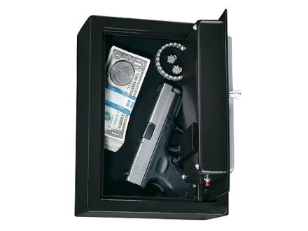 Stack-On Pistol Drawer Safe with Electronic Lock Charcoal Gray