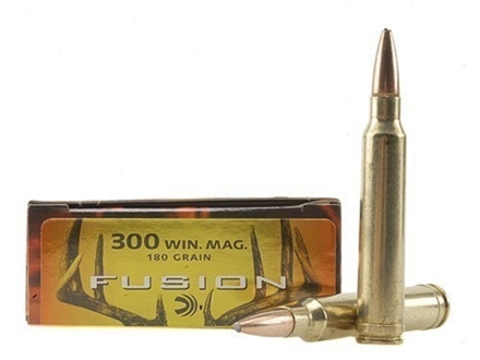 Federal Fusion Ammunition 300 Winchester Magnum 180 Grain Spitzer Boat Tail Box of 20