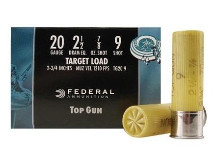 """Federal Top Gun Ammunition 20 Gauge 2-3/4"""" 7/8 oz #9 Shot"""