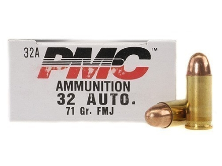 PMC Bronze Ammunition 32 ACP 71 Grain Full Metal Jacket Box of 50