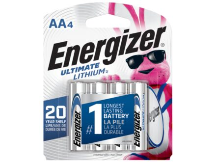 Energizer Battery AA Ultimate Lithium Pack of 4