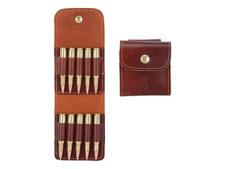 Browning Belt Slide Rifle Ammunition Carrier 10-Round up to 30-06 Springfield Leather Brown
