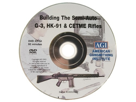 "American Gunsmithing Institute (AGI) Video ""How to Build a Semi-Auto G-3 (HK-91) from a Parts Kit"" DVD"