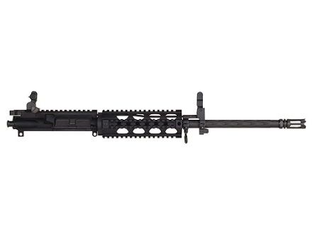 "Yankee Hill AR-15 Lightweight Carbine Upper Assembly 5.56x45mm NATO 1 in 7"" Twist 16"" Fluted Barrel Chrome Lined with Quad Rail Free Float Handguard, Flip-Up Sights, Flash Hider"