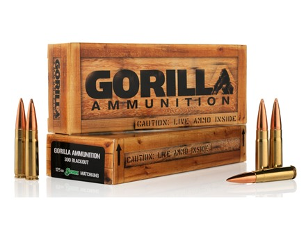 Gorilla Ammunition 300 AAC Blackout 125 Grain Sierra MatchKing
