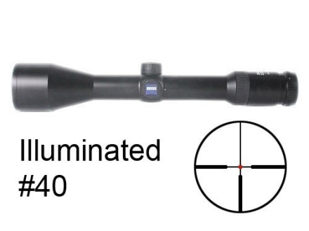 Zeiss Diavari VM/V Rifle Scope 30mm Tube 2.5-10x 50mm First Focal Illuminated #40 Reticle Matte