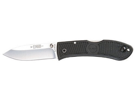 "KA-BAR Dozier Folding Hunter Knife 3"" Drop Point AUS 8A Stainless Steel Blade Zytel Handle"