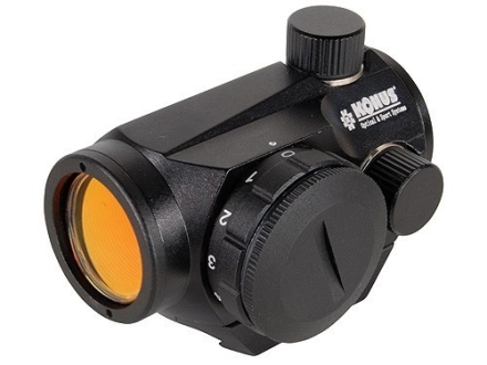 Konus Sight-Pro Atomic Red Dot Sight 1x 20mm 4 MOA Red and Green Dot with Integral Weaver-Style Mount and Rimfire Adapter Matte
