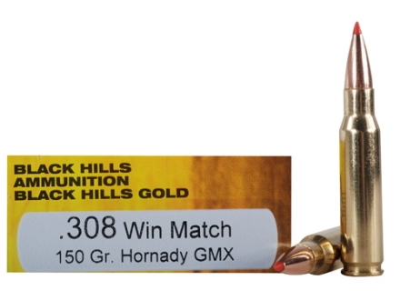 Black Hills Gold Ammunition 308 Winchester 150 Grain Hornady GMX Lead-Free Box of 20