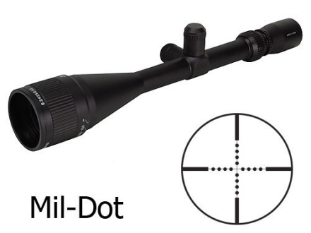 Brunton NRA Sports Optics Target Series Rifle Scope 6-24x 50mm Adjustable Objective Mil-Dot Reticle Matte