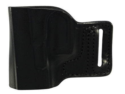 DeSantis L-Gat Slide Outside the Waistband Holster Left Handed Glock 17, 22, 23, 26, 27 Leather Black