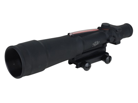 Trijicon ACOG TA55 BAC Rifle Scope 5.5x 50mm Dual-Illuminated Red Chevron 223 Remington Reticle with TA51 Flattop Mount