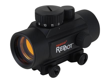 Tasco Red Dot Sight 38mm Tube 1x 30mm Airgun/Rimfire 5 MOA Dot with Rimfire/Airgun Mount Matte