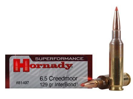 Hornady SUPERFORMANCE Ammunition 6.5 Creedmoor 129 Grain Interbond Box of 20