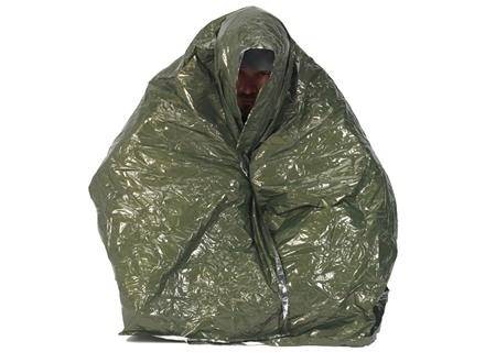 Snugpak Combat Casualty Blanket Olive Drab and Silver