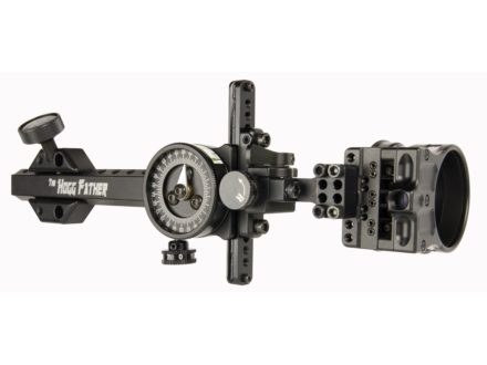"Spot-Hogg Wrapped Hogg Father 1-Pin Bow Sight .019"" Pin Diameter Small Guard Right Hand Aluminum Black"