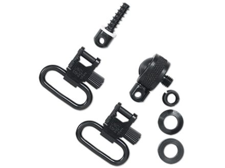"Uncle Mike's Quick Detachable Sling Swivel Set Pump, Semi-Automatic Shotguns (Requires Cap Modification) Except Browning 2000, Winchester 1400, Ithaca 37, Savage 30, Sears 21, Stevens Pump 1"" Black"