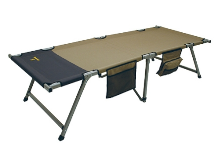 "Browning Titan XP Camp Cot XL  40"" x 85"" x 21"" Aluminum Frame Polyester Top Khaki and Coal"