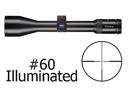 Zeiss Diavari VM/V Rifle Scope 30mm Tube 2.5-10x 50mm Illuminated #60 Reticle Matte