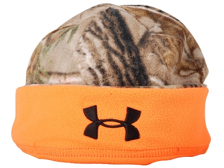 Under Armour Reversible Arctic Beanie Synthetic Blend Reatlree AP Camo and Blaze Orange