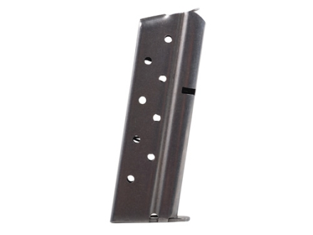 Metalform Magazine 1911 Officer Springfield 9mm Luger 8-Round Stainless Steel Flat Follower Welded Base Front Ramp Configuration