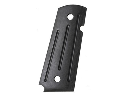 Kimber Ball Milled Slim Grips 1911 Officer, Compact Ambidextrous Safety Cut Micarta Black