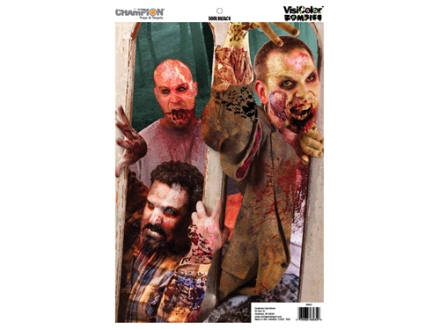 "Champion VisiColor Zombie Door Breach Target 12"" x 18"" Paper Package of 50"