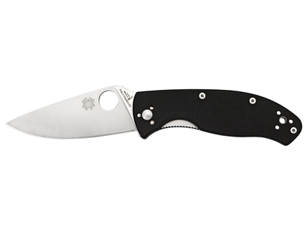 "Spyderco Tenacious Folding Knife 3.38"" 8Cr13MoV Stainless Steel Blade G-10 Handle Black"